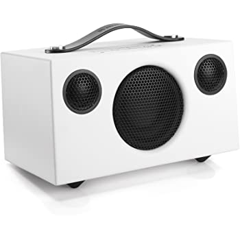 Audio Pro Addon C3 Portable High Fidelity WiFi Bluetooth Wireless Multi-Room Speakers w/Battery Compatible with Alexa, Computers, Laptop, Desktop, Cellphone & Tablet - White