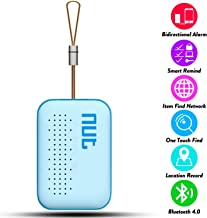 Smart Tag NUT Mini Bluetooth Anti-lost GPS Tracker Tracking Wallet Pets Key Finder Locator Sensor Remote Alarm for iOS/ iPhone/ iPod/ iPad/ Android (Blue)