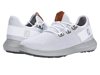 FootJoy Flex Coastal Spikeless (White/Grey/White) Men