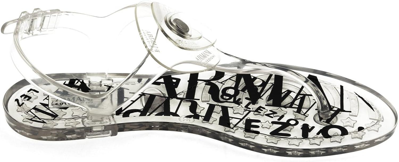 Armani , Damen Sandalen Transparent durchsichtig