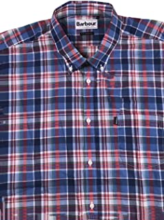 Men's FRED RED Multicolor Plaid S/S Button Down Tailored FIT Shirt Size XL
