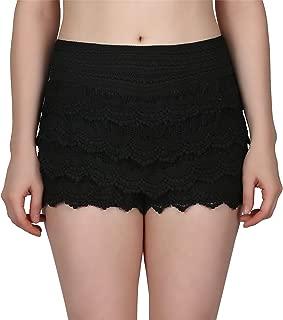 Women's Lace Shorts Fitted Scallop Hem Crochet Mini Hot Pants
