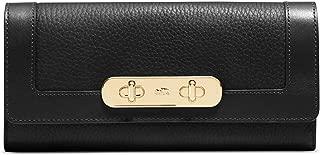 COACH Women's Swagger Slim Envelope LI/Black Checkbook Wallet