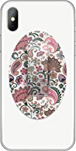 Phone Flipper Comfortable Secure Stylish Holder Grip Finger Strap for Hand Compatible with iPhone and All Tablets and Smartphones (Pink Paisley)