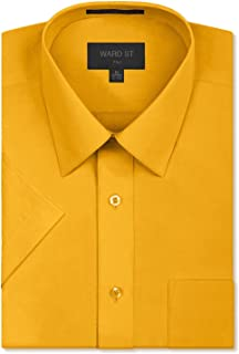 Ward St Men's Regular Fit Short Sleeve Dress Shirts