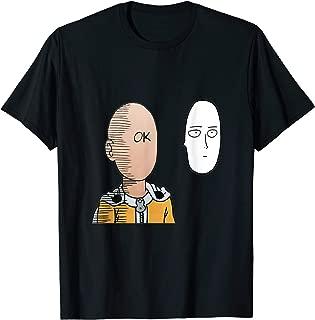 Saitama Ok Face Japanese Gift T-Shirt Otaku Manga Anime