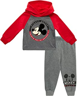 Disney Boys' Long Sleeve Hooded Shirt and Jogger Set (Newborn and Infant)
