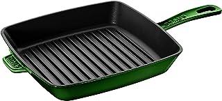 Staub Cast Iron 12-inch Square Grill Pan - Basil
