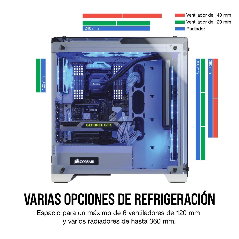 Corsair Crystal 570X RGB - Caja de PC, Mid-Tower ATX, ventana ...