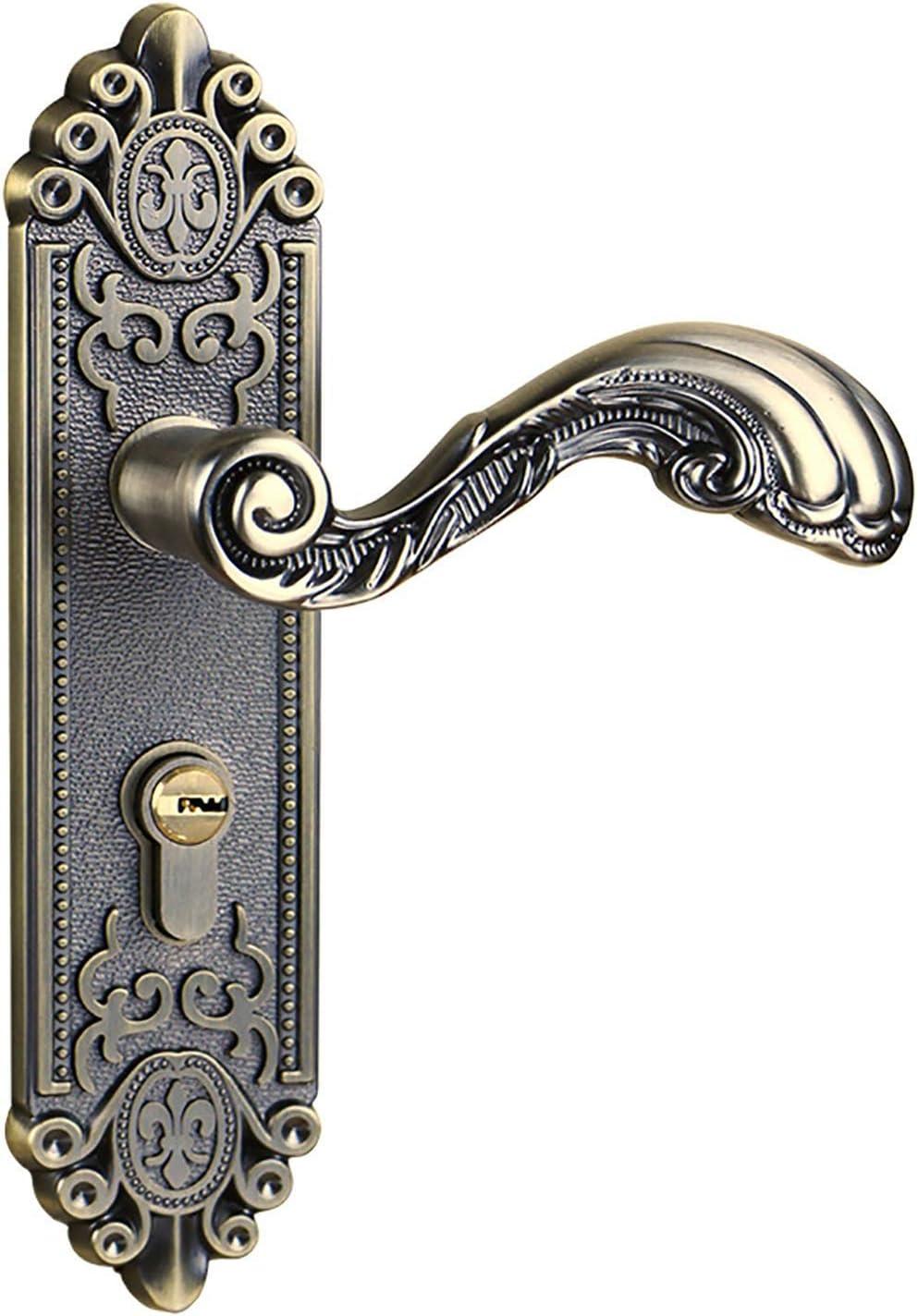 Handle Lock Zinc New product!! Alloy Indoor Silent European-Style Door Do Max 57% OFF