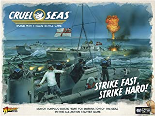 Cruel Seas Strike Fast, Strike Hard! Cruel Seas Starter Set 1:300 WWII Naval Military Wargaming Plastic Model Kit