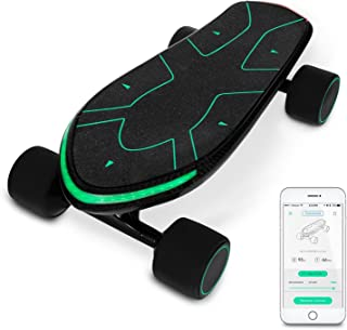 Swagtron Swagboard Spectra Pro Small Electric Penny Skateboard – 12 Miles Per Charge – 15 MPH – Mobile App