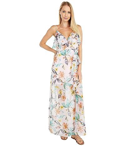 BCBGeneration Ruffle Front Surplice Maxi Dress TTJ6278205 (Multi) Women