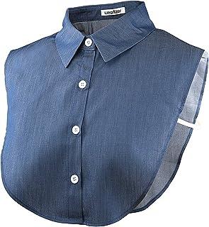 つけ襟 [Wearlizer] 付け襟 シフォン製 シャツ 角襟 衿 ブラウス ホワイト ヘアーゴムー付 …