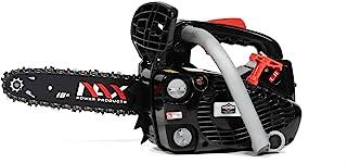 NAX POWER PRODUCTS Motor 100 C 25,4 cm3 0,75 kW, riel guía de 10 pulgadas 25 cm, sistema antirretroceso LOW KICKBACK Briggs & Stratton, licencia oficial, motosierra de gasolina, color negro