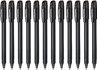 Pentel EnerGel FLASH! Liquid Gel Stick Pen, (0.7mm) Medium Line, Metal Tip, Black Ink, 12 pack (BL417-A)