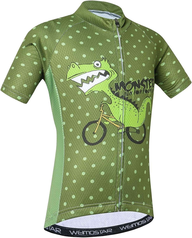 Overseas parallel import regular item Boy's Girl's Attention brand Cycling Jersey Top Summer Kids Short Sleeve Bike Je