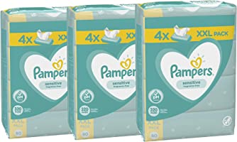 Pampers Sensitive Chusteczki nawilżane dla niemowląt, 3 x 320 chusteczek