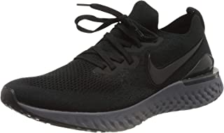 Nike Women's Epic React Flyknit Running Shoe (8.5,  Black/Anthracite)