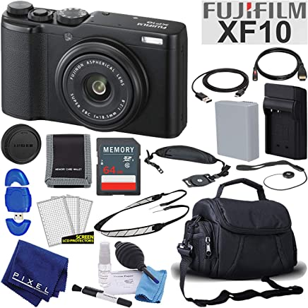 $499 Get Fujifilm XF10 X-Series 24.2 MP Point & Shoot Digital Camera (Black) with Cleaning Kit, 64GB Card and More Mid-Range Bundle