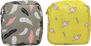mosstyus 2 PCS Girls Wallet, Cute Coin Purse, Portable Cosmetic Bag Makeup Storage Bag for Women Girls, Cotton (E)