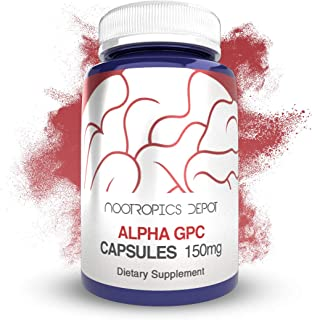 Alpha GPC Capsules | 150mg | 180 Count | Cholinergic Supplement | Brain Health Supplement | Supports Healthy Brain Functio...