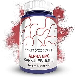 Alpha GPC Capsules | 150mg | 60 Count | Choline Supplement | Brain Health Supplement | Supports Healthy Brain Function | Enhance Cognition, Memory + Focus