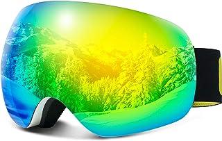 نظارات تزلج COPOZZ G7 كبيرة الحجم مضادة للضباب والكرات الثلجية للتزلج على الجليد، عدسات مزدوجة الطبقات مضادة للضباب UV400،...