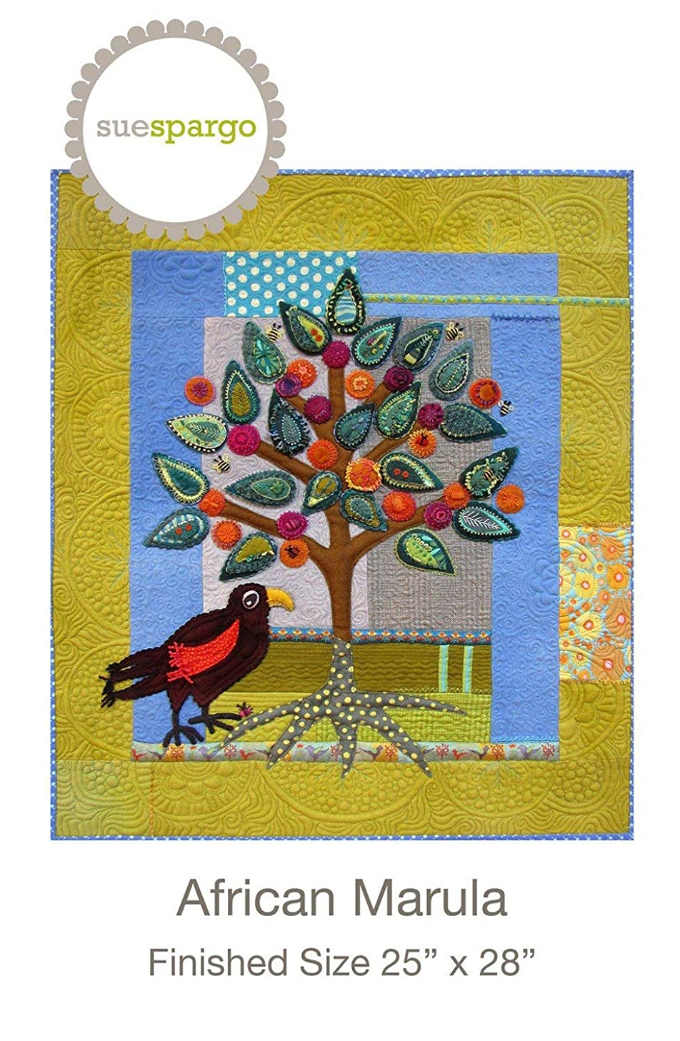 African Marula pattern by Sue Spargo Wool Applique 25
