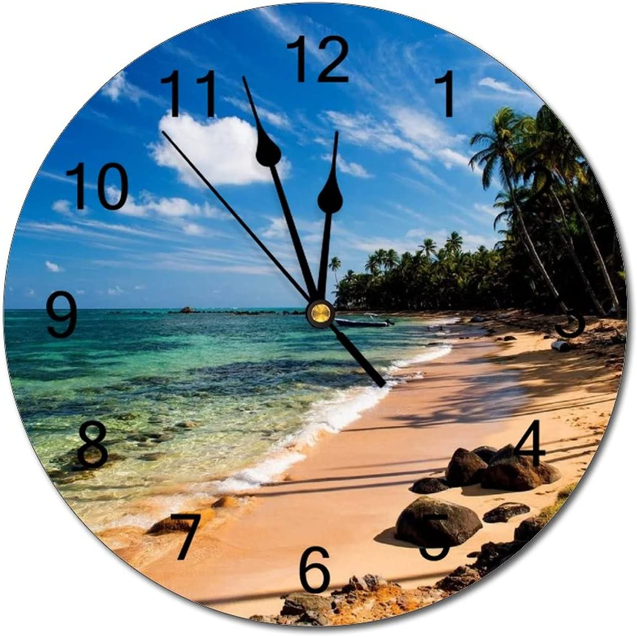Choice Tropical Beach Sea Palm Trees Stones Non Moss Operated T New Free Shipping Battery