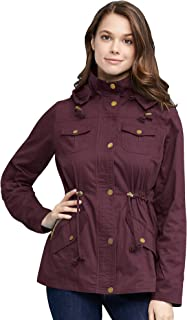 Come Together California CTC Womens Pop of Color Parka Jacket