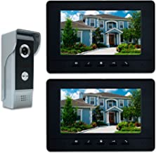 "AMOCAM Video Doorbell Phone, 7"" Video Intercom Monitor Doorphone System, Wired Video Door Phone HD Camera Kits Dual-Way In..."