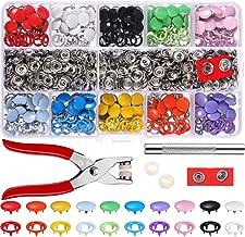 Queta 200 Set oogjes drukknopen, 9,5 mm lederen knoop zink gesp drukknopen met tang Craft Tool