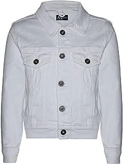 Kids Boys Jackets Designer White Denim Jeans Fashion Jacket Coat Age 3-13 Yr