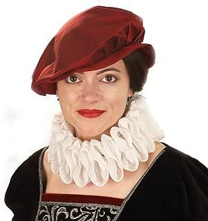 Elizabethan Ruff Collar for Women - Goffered Frill