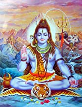 Fenfei Lord Shiva Hindu Religion Wall Art Canvas Prints Hindu God Canvas Paintings On The Wall Lord Shiva Portrait Pictures Home Decor 50cm x75cm No Frame