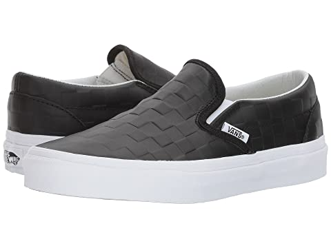 Vans Classic Slip-On™  a  - (Leather) Checkerboard Black c3192b61c