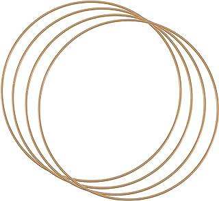 Vaessen Creative Metallring set för hantverk, 4 delar, Ø 25 cm eller 9,8 i diameter, 3 mm tjock, drömfångarring, krans rin...
