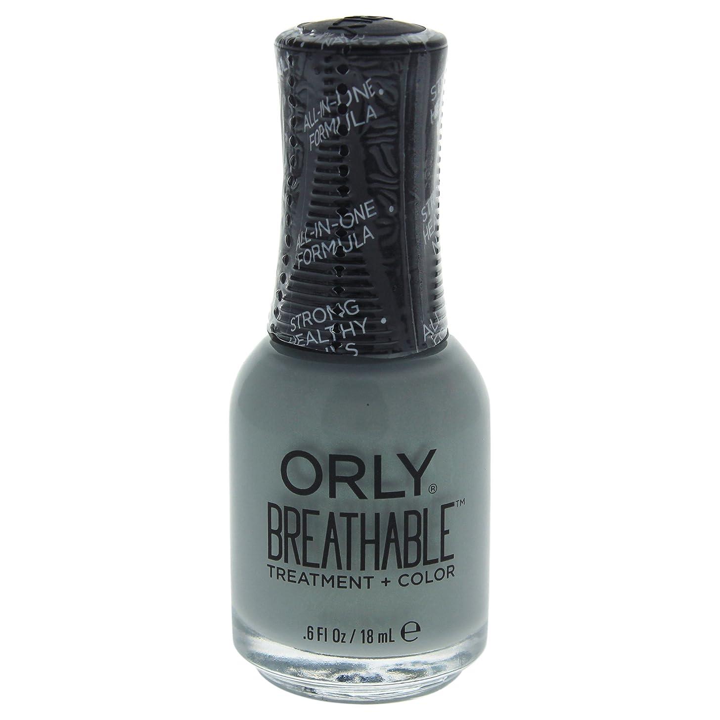 セメント所有者スペルOrly Breathable Treatment + Color Nail Lacquer - Aloe, Goodbye! - 0.6oz / 18ml