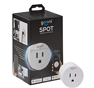 Geeni Spot Smart Wi-Fi Plug, No Hub Required, Works with Amazon Alexa, Google Assistant & Microsoft Cortana, White
