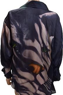 Salvatore Ferragamo Navy Animal Print Tunic