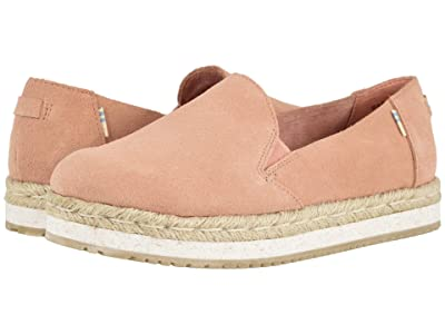 TOMS Palma (Coral Pink Suede) Women