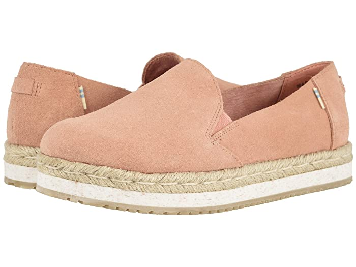 TOMS  Palma (Coral Pink Suede) Womens Shoes