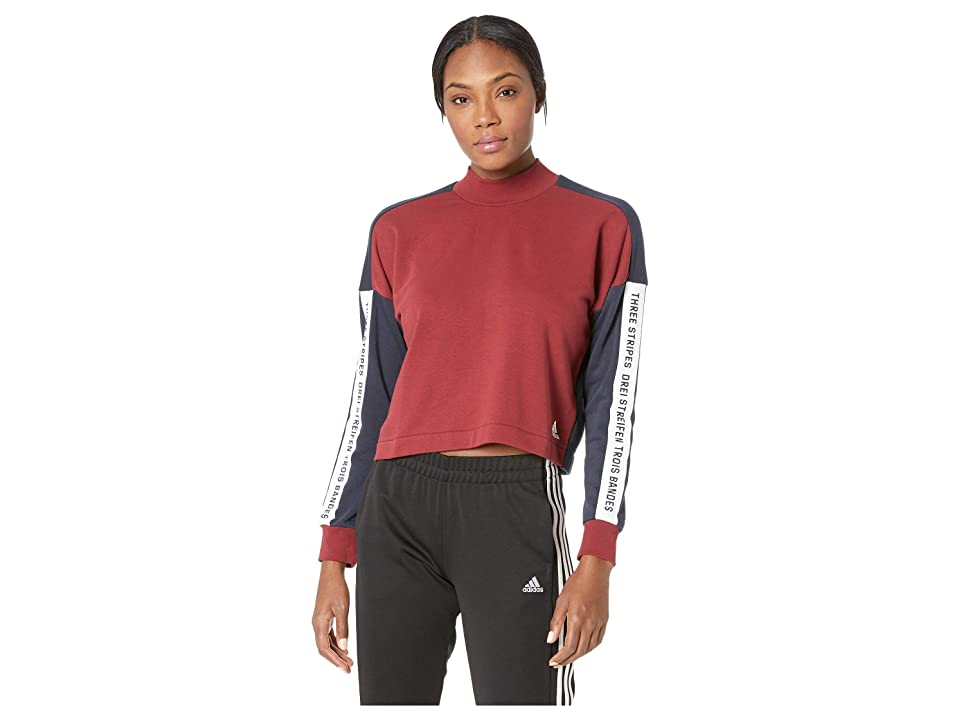 adidas Sport ID Sweatshirt (Noble Maroon/Legend Ink/White) Women