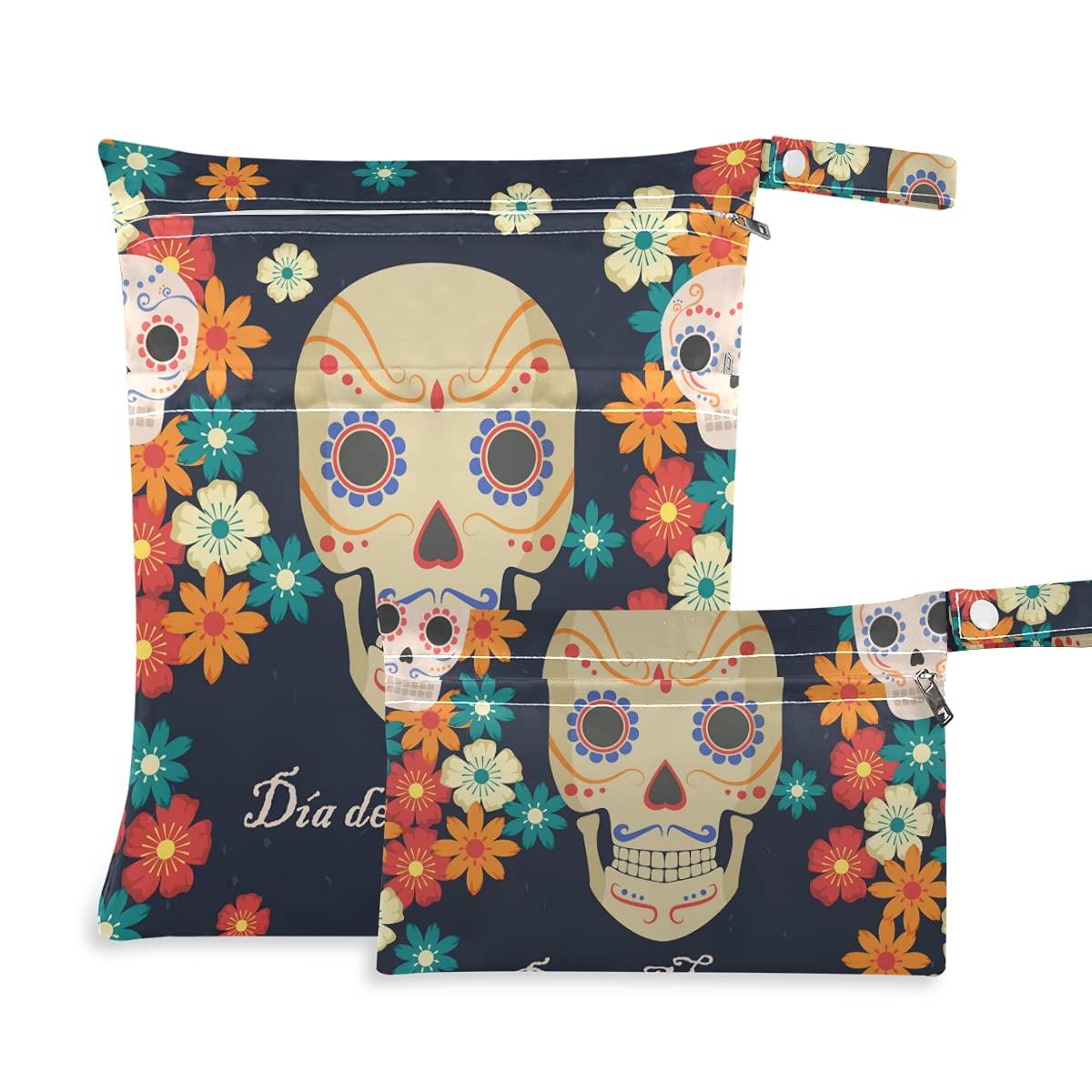 Dead favorite Day Dia Muertos Halloween Mexican Reusabl Dry Wet Skull Bag Louisville-Jefferson County Mall
