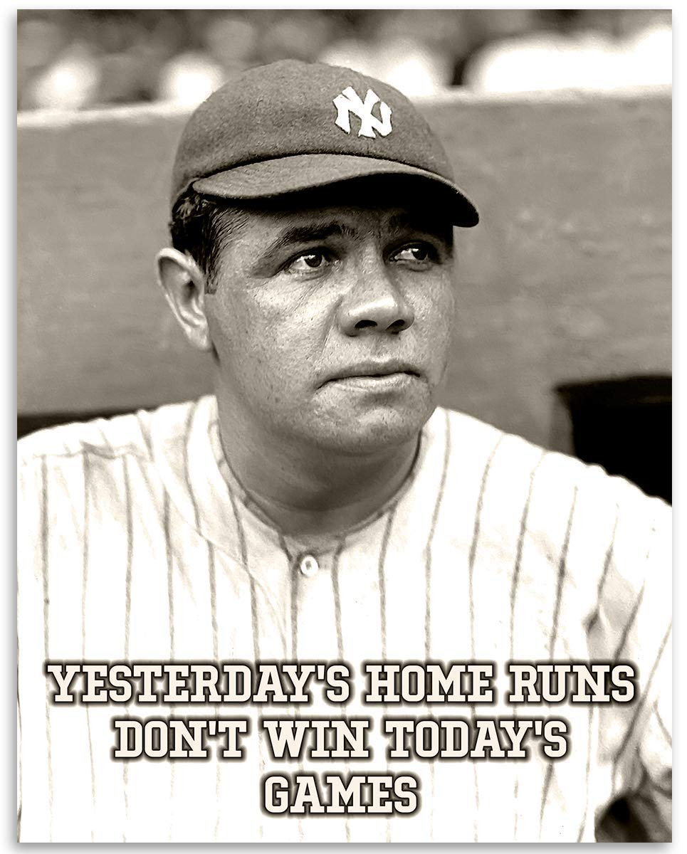 Yesterday's Wholesale Home Runs - Special price Babe Ruth Print 11x14 Unframed G Art