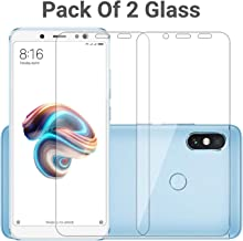 POPIO Tempered Glass Screen Protector For Xiaomi Redmi Note 5 Pro (Transparent) Full Screen Coverage (Except Edges) With Easy Installation Kit , Pack of 2