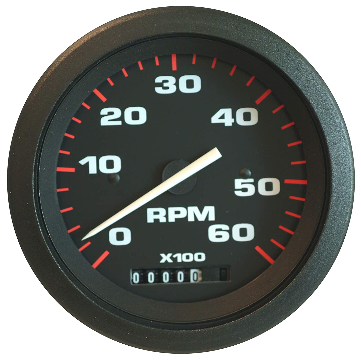 Sierra International 57897P Amega Domed Electric Tachometer/Hourmeter for O/B & 4 Stroke Gas Engines, 3