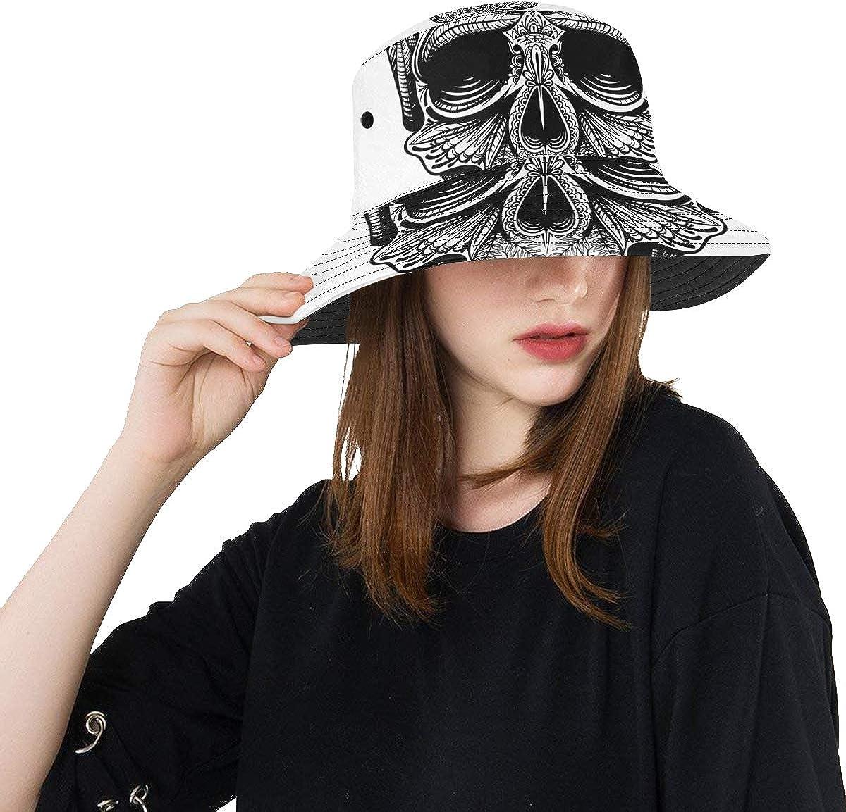 Limited price sale Hat Beach Women Skull Cool Bone Tattoo Scary Summer Fishi Unisex Fees free!!