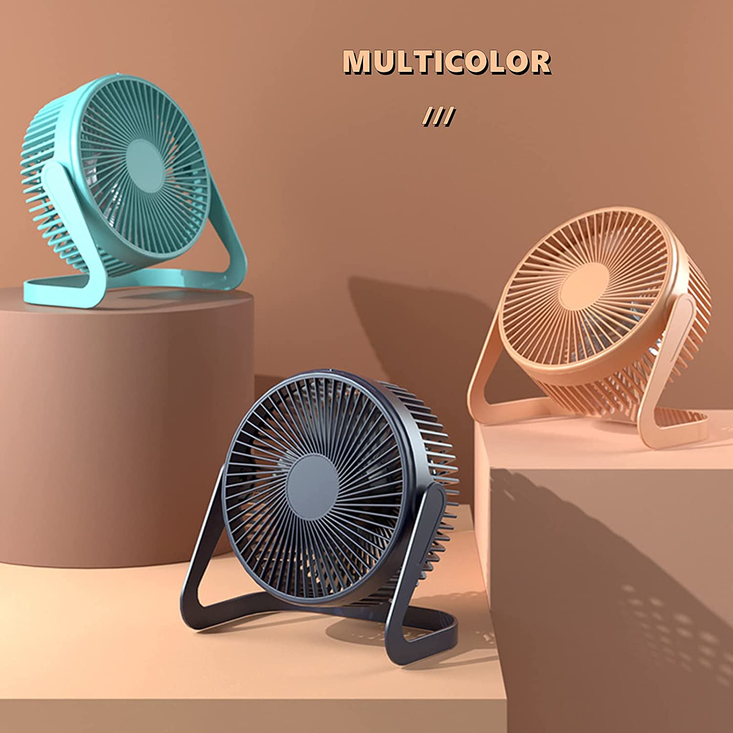USB Fan 5 Inch Mini USB Desk Table Fan Personal Portable Desktop Cooling Fan Powered by USB PC Netbook for Camping Home Office Outdoor Travel, Strong Wind, Green